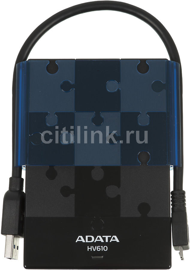 Внешний жесткий диск A-DATA DashDrive HV610, 1Тб, черный [ahv610-1tu3-cbkbl]