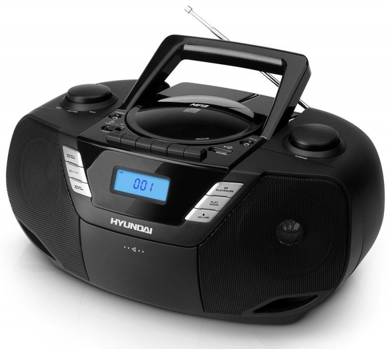 Аудиомагнитола HYUNDAI H-1443,  черный