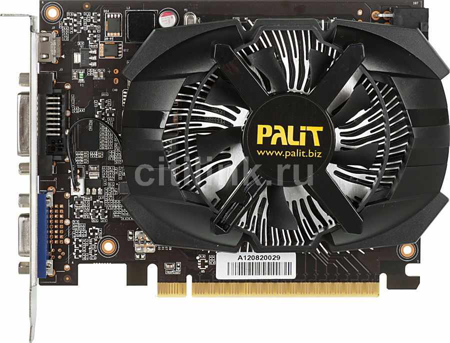 Видеокарта PALIT GeForce GTX 650,  NE5X65001301-107XF,  1Гб, GDDR5, Ret