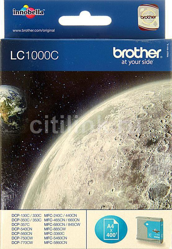 Картридж BROTHER LC1000C голубой