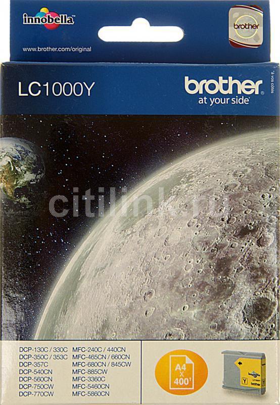 Картридж BROTHER LC1000Y желтый