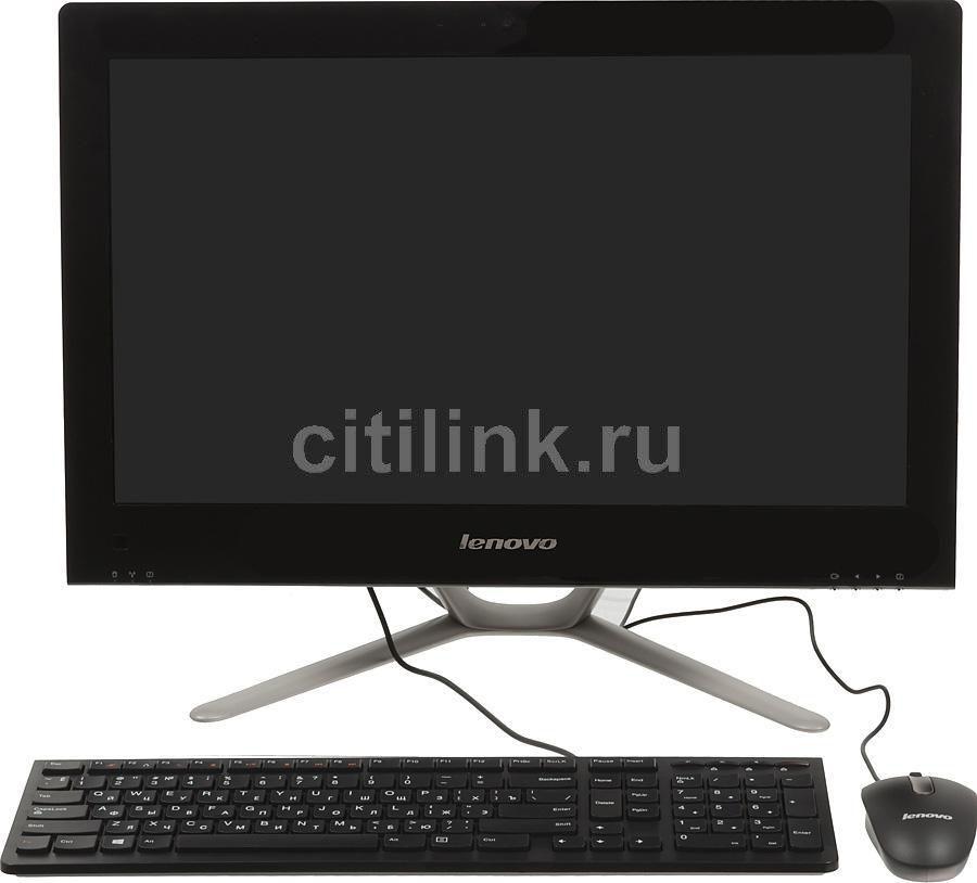 Моноблок LENOVO C340, Intel Core i3 3220, 4Гб, 1000Гб, nVIDIA GeForce 615 - 1024 Мб, DVD-RW, Windows 8, черный и серебристый [57309008]