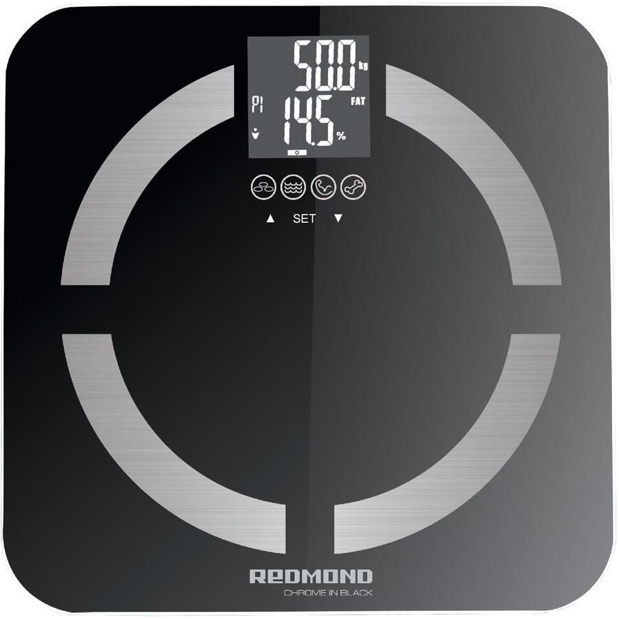 Весы REDMOND RS-713, до 150кг, цвет: черный [rs-713 (black)]