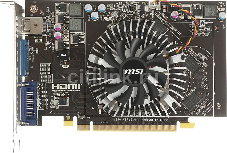 Видеокарта MSI R6670-MD1GD3 V2,  1Гб, DDR3, Ret
