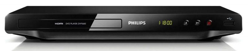 DVD-плеер PHILIPS DVP3680/51,  черный