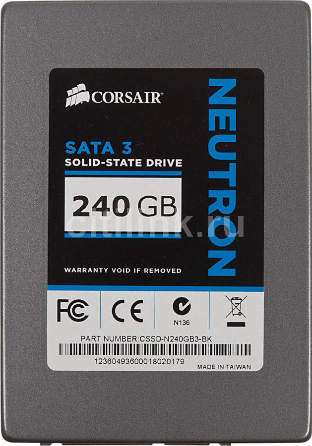 "Накопитель SSD CORSAIR Neutron CSSD-N240GB3-BK 240Гб, 2.5"", SATA III"