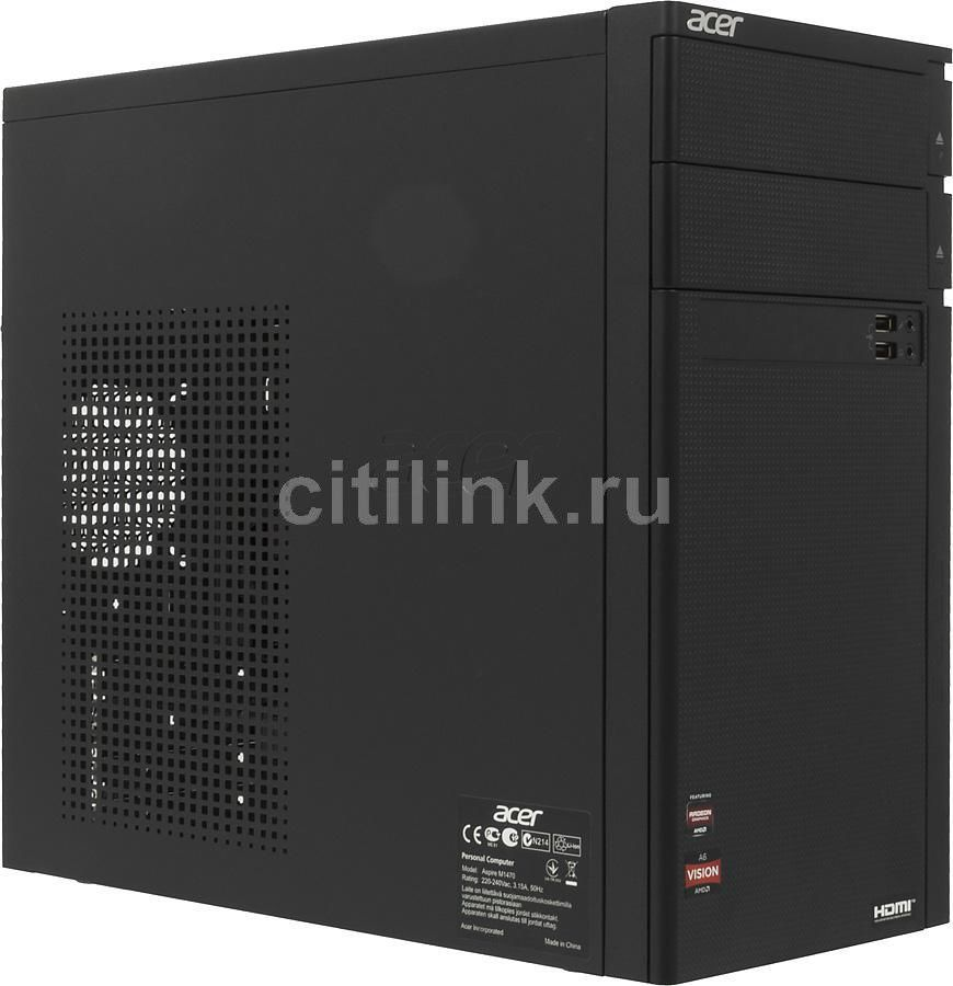 Компьютер  ACER Aspire M1470,  AMD  A6  3620,  DDR3 4Гб, 500Гб,  AMD Radeon HD 7470 - 2048 Мб,  DVD-RW,  Free DOS,  черный [dt.shjer.022]