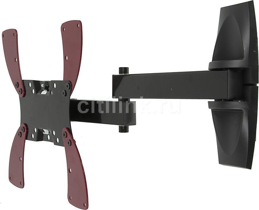 "Кронштейн для телевизора Holder LCDS-5046 черный 10""-40"" макс.30кг настенный поворот и наклон"