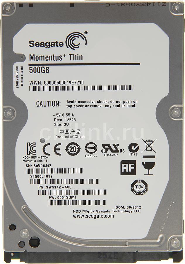Жесткий диск SEAGATE Momentus Thin ST500LT012,  500Гб,  HDD,  SATA II,  2.5
