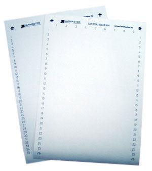 Маркер Lanmaster (LAN-MOL-14X7-WH) 14x7мм (упак:420шт) бел.