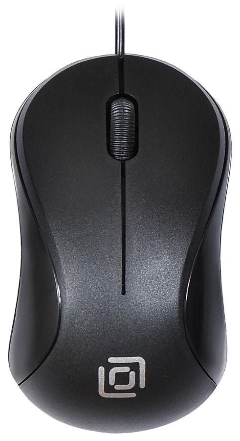 Мышь OKLICK 115S, оптическая, проводная, USB, черный [m-288]