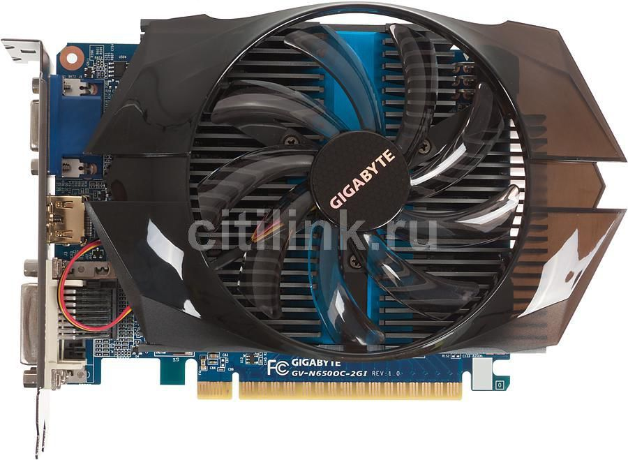 Видеокарта GIGABYTE nVidia  GeForce GTX 650 ,  2Гб, GDDR5, OC,  Ret [gv-n650oc-2gi]