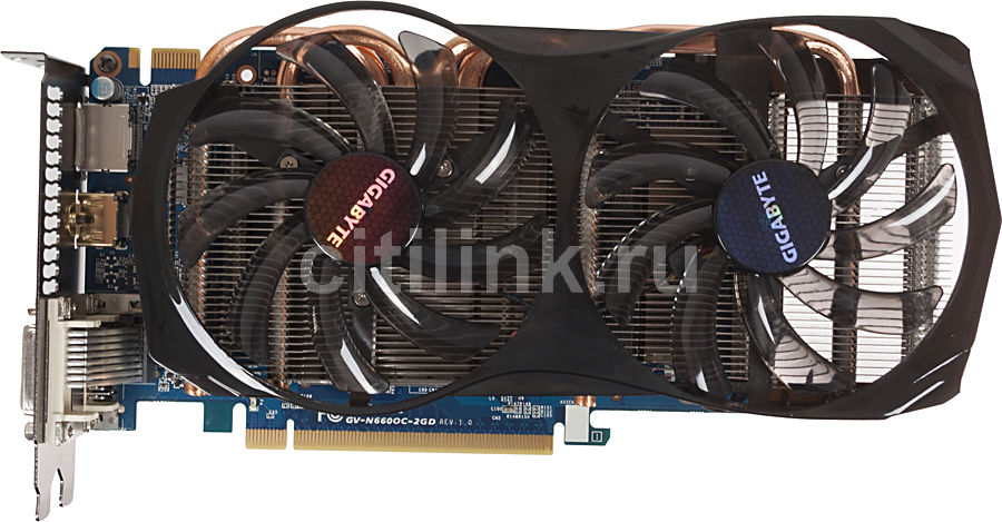 Видеокарта GIGABYTE GeForce GTX 660,  GV-N660OC-2GD,  2Гб, GDDR5, OC,  Ret