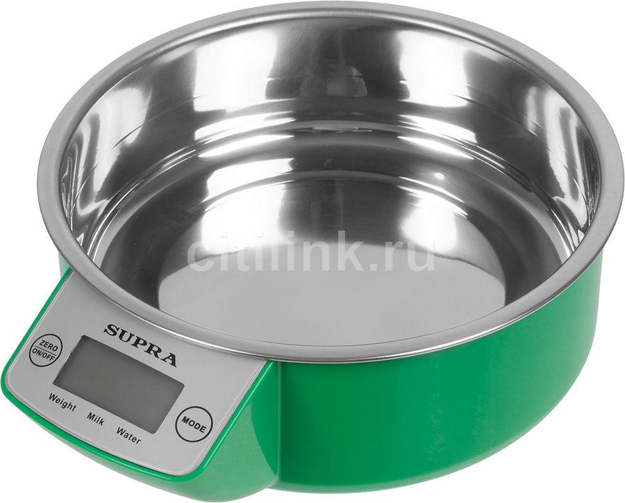 Весы кухонные SUPRA BSS-4090,  зеленый