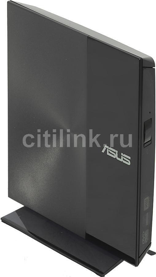 Оптический привод DVD-RW ASUS SDRW-08D3S-U, внешний, USB, черный,  Ret [sdrw-08d3s-u/dblk/g/as]