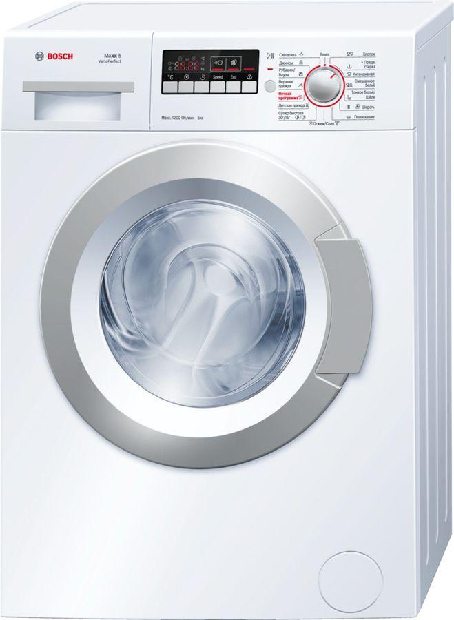 Стиральная машина BOSCH WLG24260OE, фронтальная загрузка,  белый