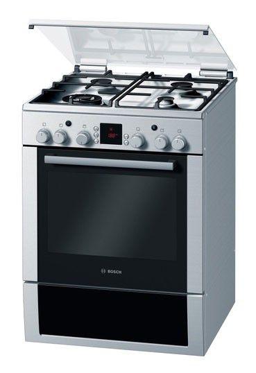 Газовая плита BOSCH HGG94W355R,  газовая духовка,  серебристый