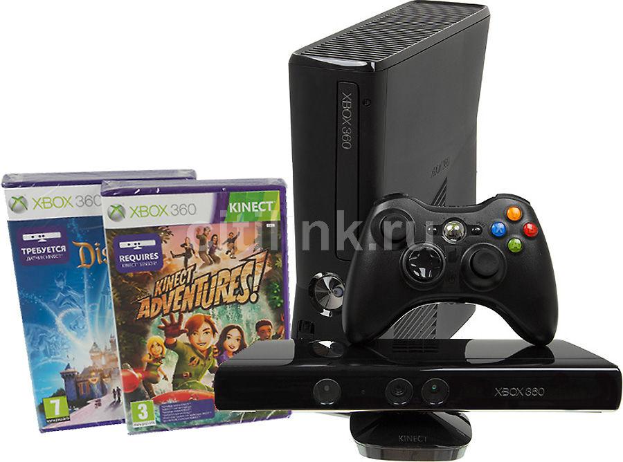 Игровая консоль MICROSOFT Xbox 360 S4G-00155, черный
