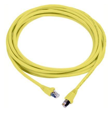 Патч-корд MOLEX литой (molded), FTP, cat.6, 0.5м, 4 пары, 26AWG,  1 шт,  желтый