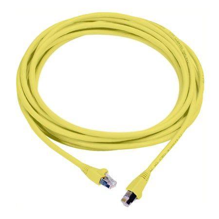 Патч-корд MOLEX PCD-00305-0K литой (molded), FTP, cat.6, 1м, 4 пары, 26AWG,  1 шт,  желтый
