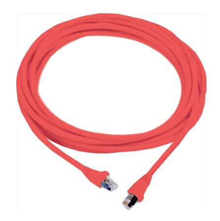 Патч-корд MOLEX PCD-00309-0C литой (molded), FTP, cat.6, 3м, 4 пары, 26AWG,  1 шт,  красный