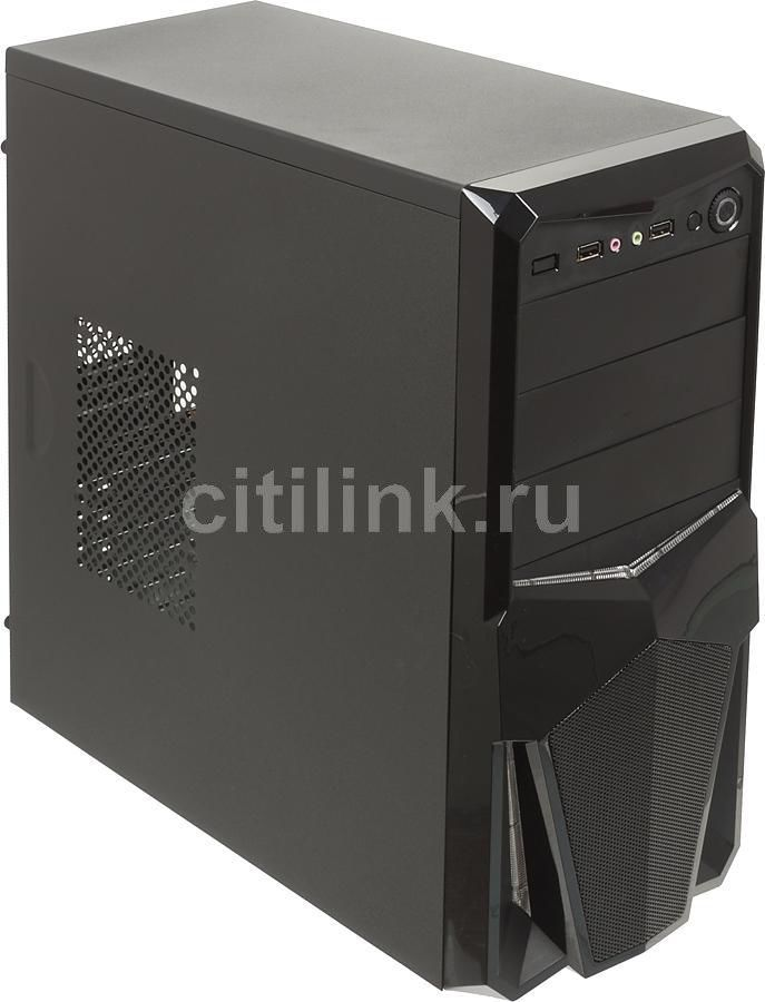 Корпус ATX ACCORD P-41B, Midi-Tower, без БП,  черный