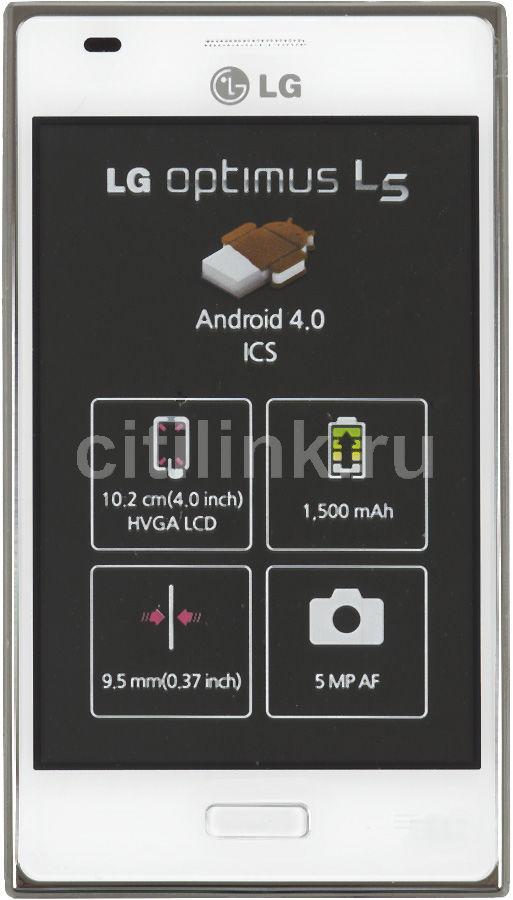 Смартфон LG Optimus L5 E612  белый