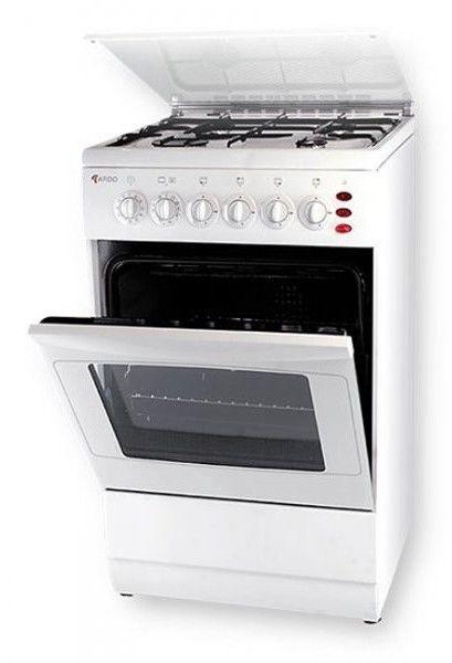 Газовая плита ARDO KA540EBW,  электрическая духовка,  белый