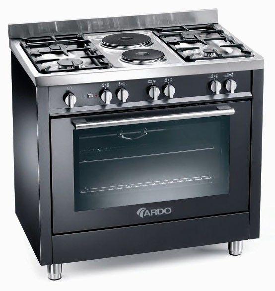 Газовая плита ARDO PL96GG42VBL,  газовая духовка,  черный