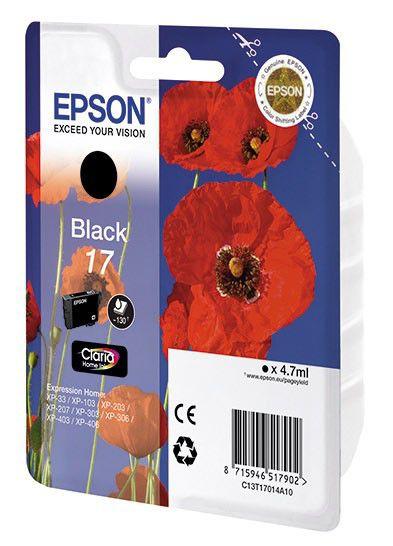 Картридж EPSON T1701 черный [c13t17014a10]