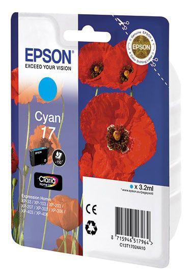Картридж EPSON T1702 голубой [c13t17024a10]