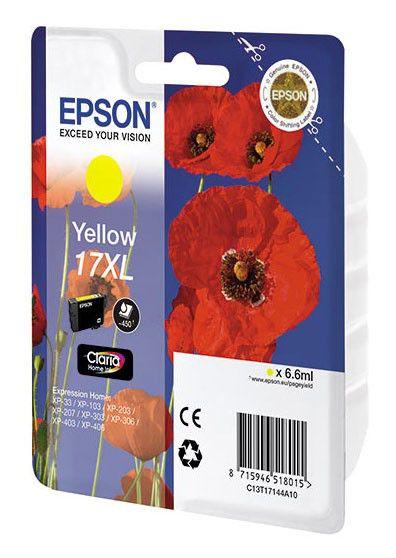 Картридж EPSON T1714 желтый [c13t17144a10]