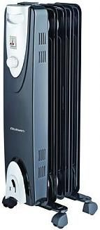 Масляный радиатор ROLSEN ROH-C5, 1000Вт, черный