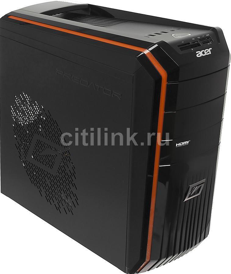 Компьютер  ACER Aspire Predator G3620,  Intel  Core i7  3770,  DDR3 6Гб, 1000Гб,  nVIDIA GeForce GT640 - 4096 Мб,  DVD-RW,  CR,  Windows 8,  черный и оранжевый [dt.sjper.018]