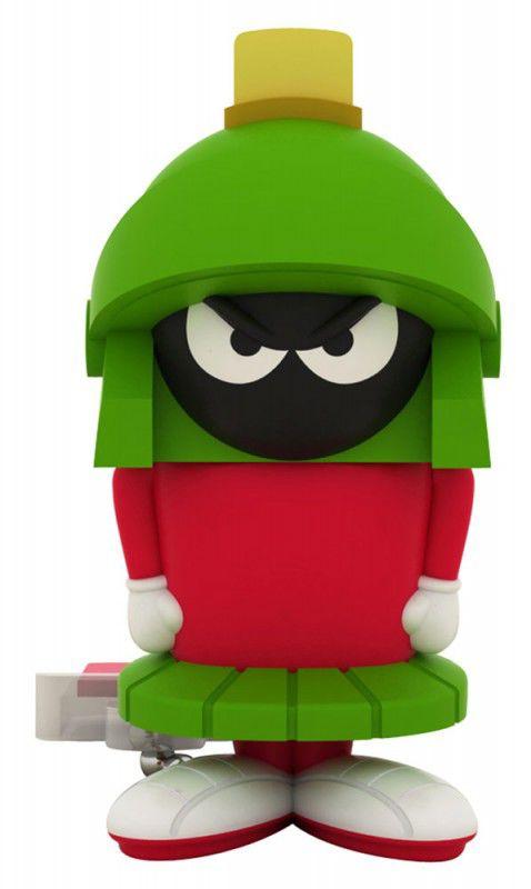 Флешка USB EMTEC L107 Marvin 8Гб, USB2.0, зеленый и красный [ekmmd8gl107]
