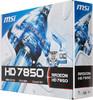 Видеокарта MSI Radeon HD 7850,  1Гб, GDDR5, OC,  Ret [r7850-1gd5/oc] вид 7