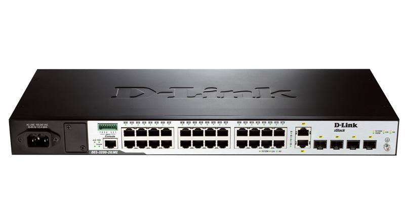 Коммутатор D-LINK DES-3200-28/ME/C1A, DES-3200-28/ME/C1A