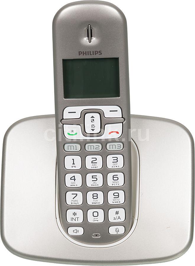 Радиотелефон PHILIPS XL3901S,  серебристый [xl3901s/51]