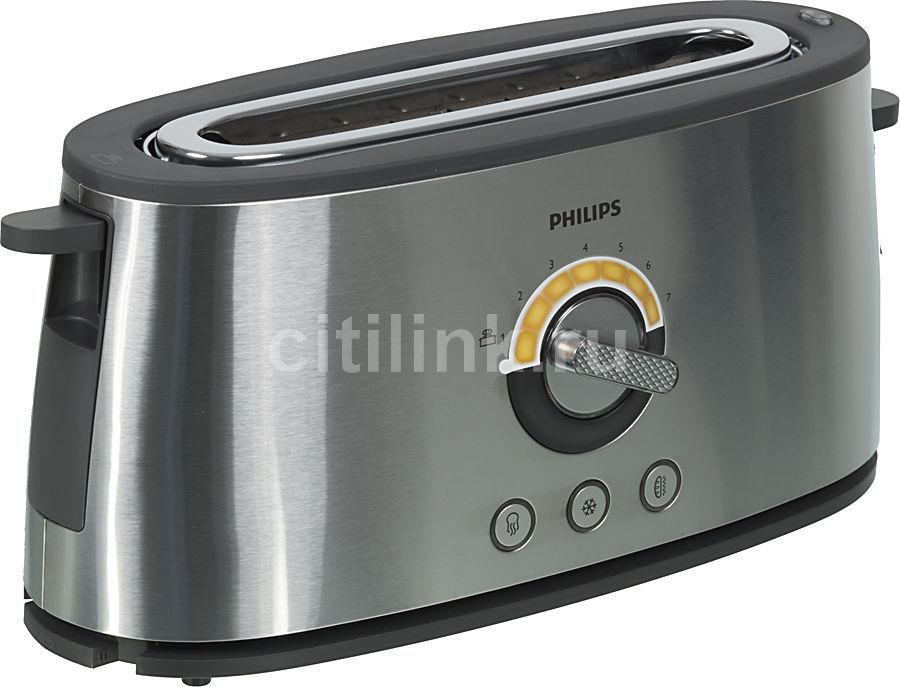 Тостер PHILIPS HD2698,  серебристый [hd2698/00]