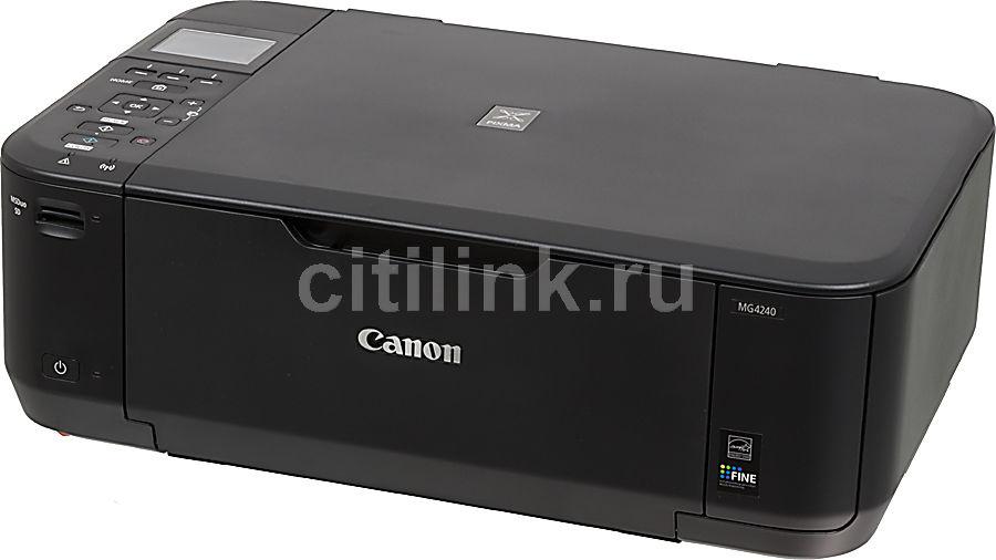 МФУ CANON PIXMA MG4240, A4, цветной, струйный, черный [6224b007]