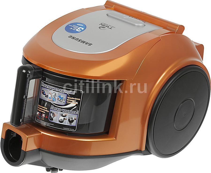 Пылесос SAMSUNG SC6522, 1600Вт, оранжевый/серебристый