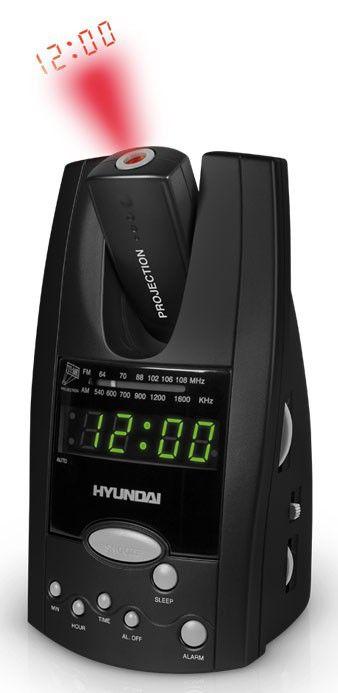 Радиобудильник HYUNDAI H-1506, зеленая подсветка,  черный