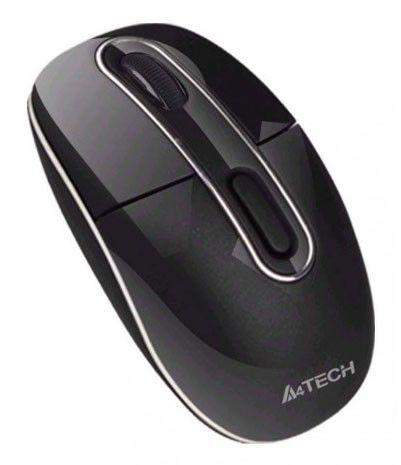 Мышь A4 G7-300D-1 оптическая беспроводная USB, черный