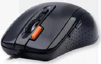 Мышь A4 D-70FX оптическая проводная USB, черный