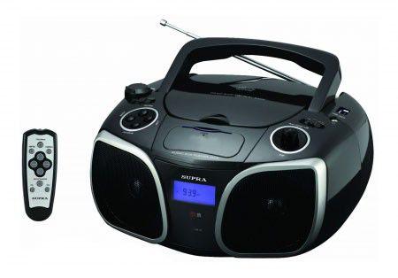Аудиомагнитола SUPRA BB-CD114UD,  черный
