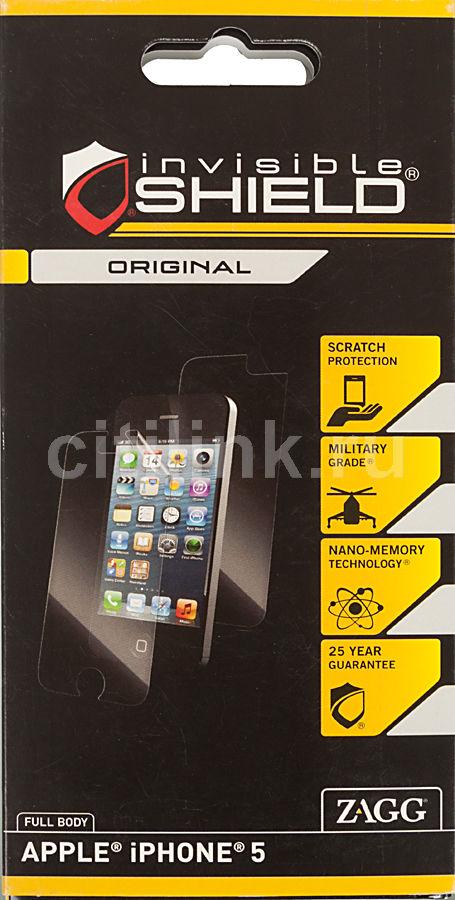 Защитная пленка ZAGG APLIPHONE5LE  для Apple iPhone 5,  прозрачная, 1 шт