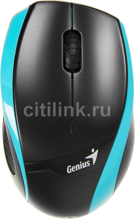 Мышь GENIUS DX-7010 оптическая беспроводная USB, голубой и черный [31030074104]