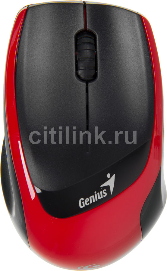 Мышь GENIUS DX-7020 оптическая беспроводная USB, черный и красный [31030075102]