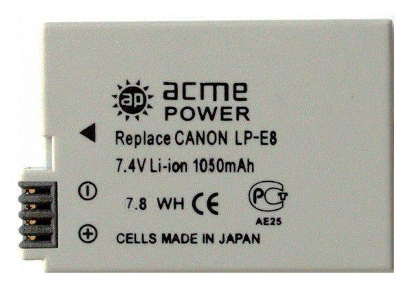 Аккумулятор ACMEPOWER AP-LP-E8, Li-Ion,  7.4В,  1200мAч,  для зеркальных камер Canon EOS 700D/650D/600D/550D