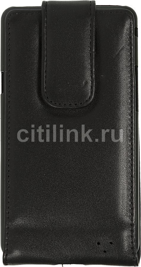 Чехол (флип-кейс) INTERSTEP LOCK, для Samsung Galaxy S II, черный [hlc-sagals2k-na0201o-k100]